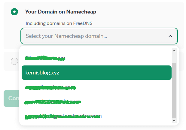 connect a domain to wordpress on easywp