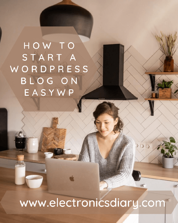 Woman starting a blog on easywp