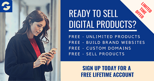 Sell digital products online for free